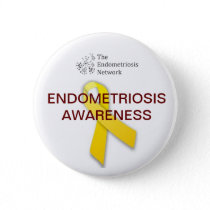 Endometriosis Awareness Pinback Button