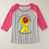 ENDOMETRIOSIS AWARENESS Plus-Size 3/4 Sleeve Plus Size Raglan T-Shirt