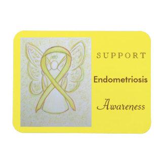 Endometriosis Awareness Ribbon Angel Custom Magnet