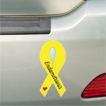 Endometriosis Awareness Ribbon Car Magnet