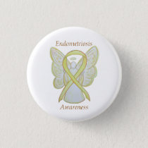 Endometriosis Awareness Ribbon Custom Angel Pin