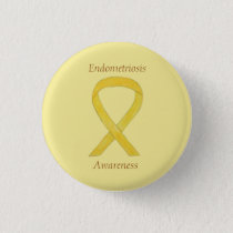 Endometriosis Awareness Ribbon Custom Pin