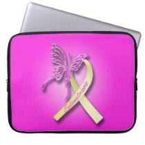 Endometriosis Awareness Ribbon Laptop Sleeve