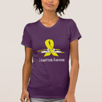 Endometriosis Awareness Ribbon with Swans T-Shirt