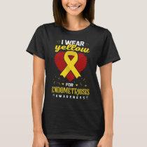 Endometriosis Awareness Shirt Yellow Ribbon March