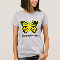 Endometriosis Awareness with Butterfly Ribbon T-Shirt