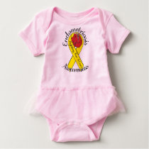 ENDOMETRIOSIS AWARNESS Baby Tutu Bodysuit