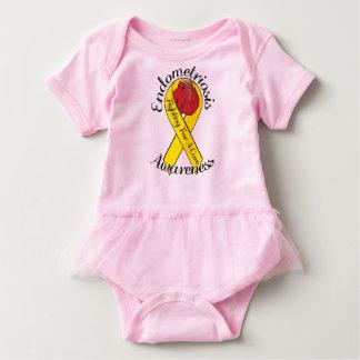 ENDOMETRIOSIS AWARNESS Baby Tutu Bodysuit