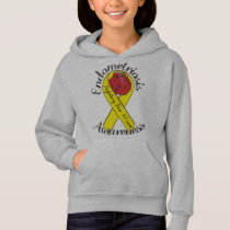 ENDOMETRIOSIS AWARNESS Girls' Hanes Hoodie