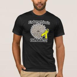 Endometriosis Blows Awareness Design T-Shirt