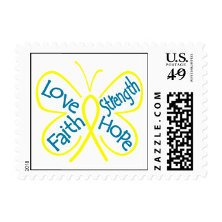 Endometriosis Butterfly Inspiring Words Stamps