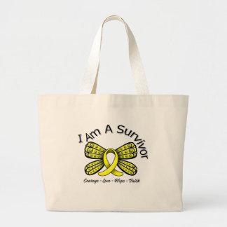 Endometriosis Cancer Butterfly I Am A Survivor Canvas Bags