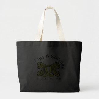 Endometriosis Cancer Butterfly I Am A Survivor Tote Bag