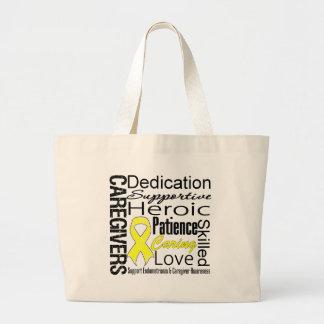 Endometriosis Caregivers Collage Canvas Bags