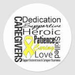 Endometriosis Caregivers Collage Round Sticker