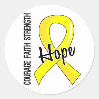 Endometriosis de la esperanza 5 de la fe del valor pegatina redonda