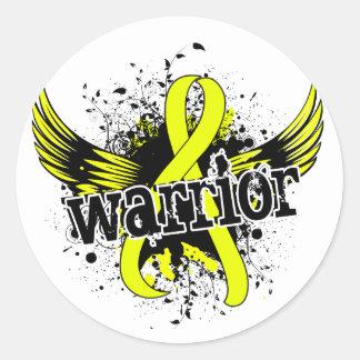 Endometriosis del guerrero 16 pegatina redonda