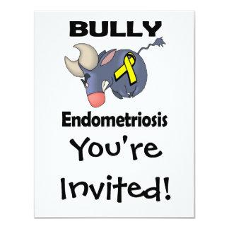 Endometriosis del matón invitación 10,8 x 13,9 cm