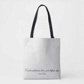 Endometriosis does not define me tote bag