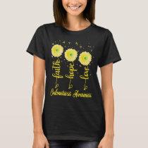 endometriosis faith hope love daisy flower T-Shirt