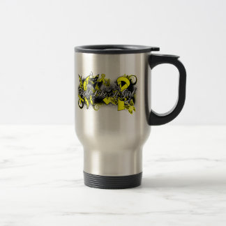 Endometriosis Fight Like A Girl Grunge Butterfly 15 Oz Stainless Steel Travel Mug