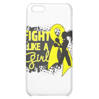 Endometriosis Fight Like A Girl Grunge iPhone 5C Covers