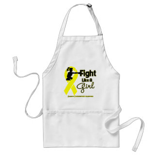Endometriosis Fight Like A Girl Knock Out Apron