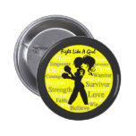 Endometriosis Fight Like A Girl Warrior Collage Buttons