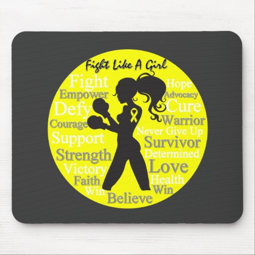 Endometriosis Fight Like A Girl Warrior Collage Mouse Pad