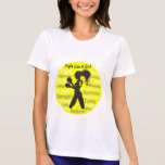 Endometriosis Fight Like A Girl Warrior Collage T-shirt
