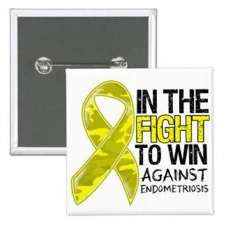 Endometriosis - Fight To Win 2 Inch Square Button