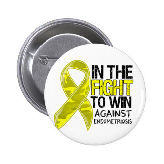 Endometriosis - Fight To Win Pinback Button