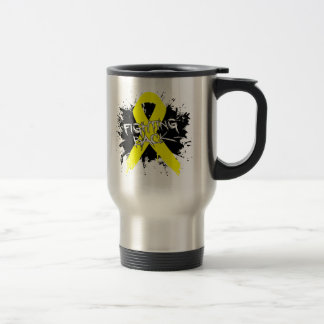 Endometriosis - Fighting Back 15 Oz Stainless Steel Travel Mug