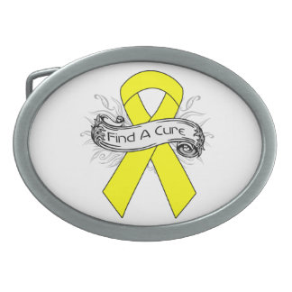 Endometriosis Find A Cure Ribbon Oval Belt Buckles