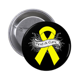 Endometriosis Find A Cure Ribbon Button