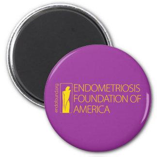 Endometriosis Foundation of America 2 Inch Round Magnet