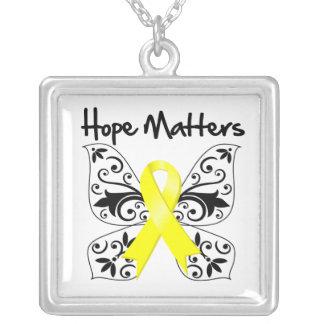 Endometriosis Hope Matters Square Pendant Necklace