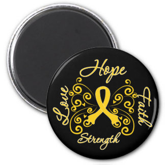 Endometriosis Hope Motto Butterfly 2 Inch Round Magnet