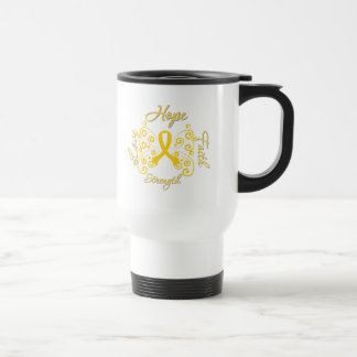 Endometriosis Hope Motto Butterfly 15 Oz Stainless Steel Travel Mug