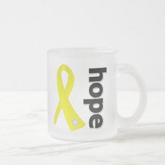 Endometriosis Hope Ribbon 10 Oz Frosted Glass Coffee Mug