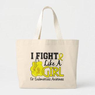 Endometriosis I Fight Like A Girl 15.5 Canvas Bag
