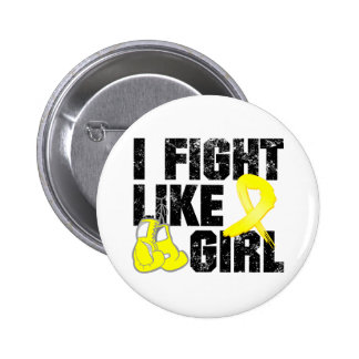 Endometriosis I Fight Like A Girl (Grunge) Button
