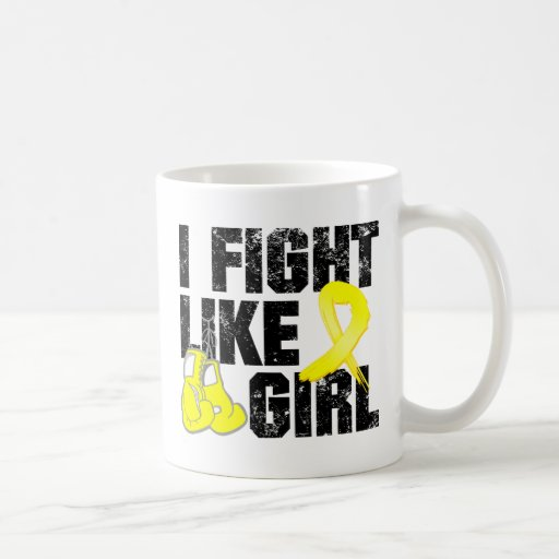 Endometriosis I Fight Like A Girl (Grunge) Classic White Coffee Mug
