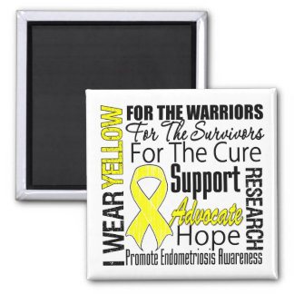 Endometriosis I Wear Yellow Ribbon Tribute Fridge Magnets