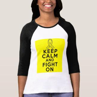 Endometriosis Keep Calm and Fight On Tshirts