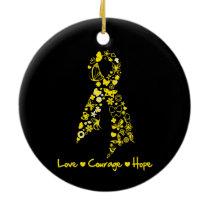 Endometriosis Love Courage Hope Butterflies Ceramic Ornament