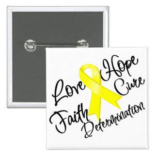 Endometriosis Love Hope Determination Button