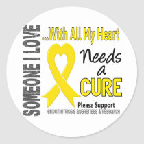 Endometriosis Needs A Cure 3 Classic Round Sticker