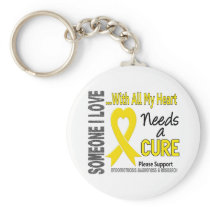 Endometriosis Needs A Cure 3 Keychain