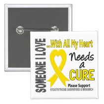 Endometriosis Needs A Cure 3 Pinback Button